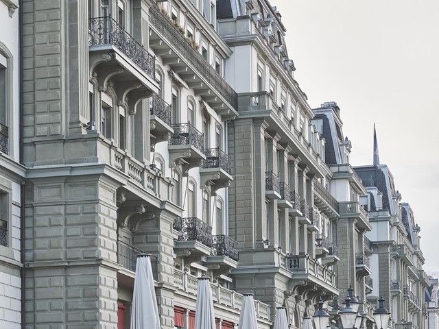 Fassade Detail Grand Hotel National Luzern
