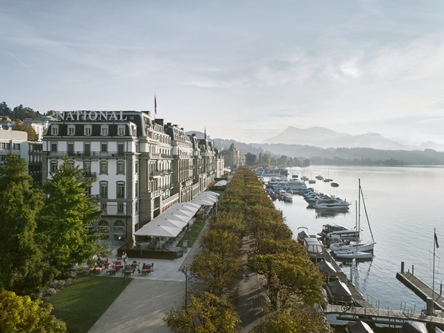Grand Hotel National Luzern direkt an der Seepromenade